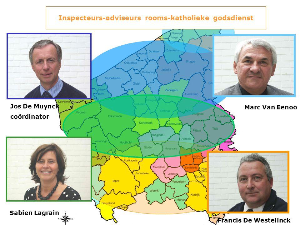 Jos De Muynck coördinator Francis De Westelinck Sabien Lagrain Marc Van Eenoo Inspecteurs-adviseurs rooms-katholieke godsdienst