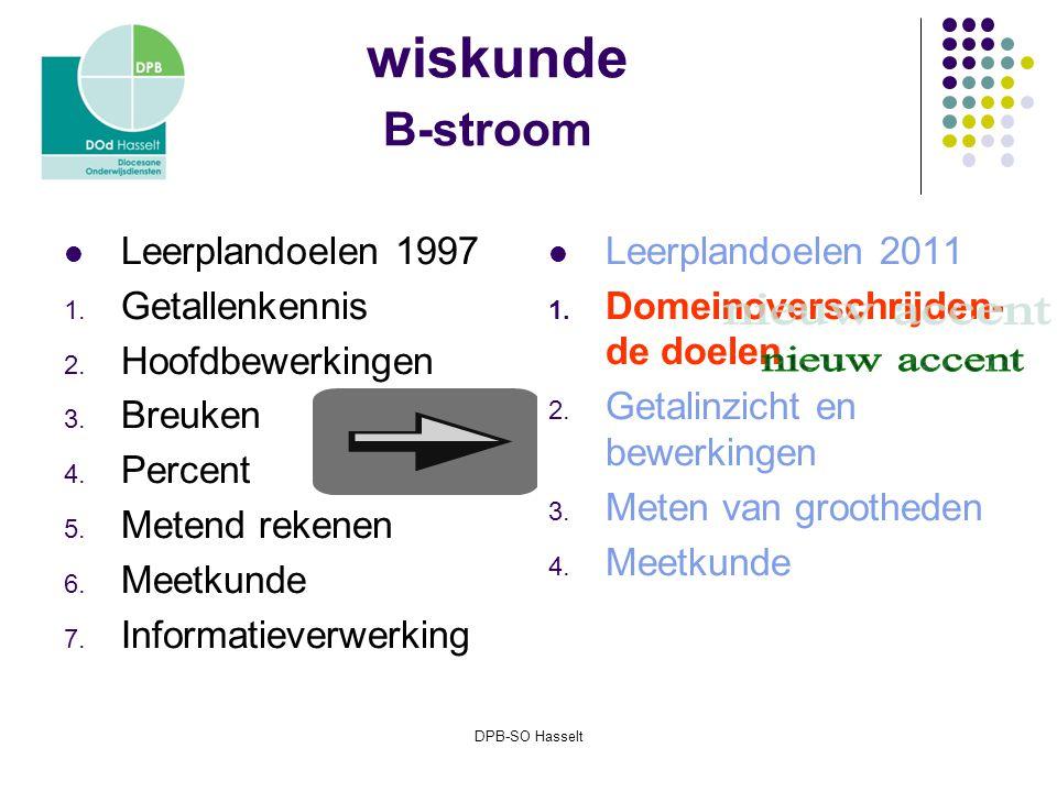 DPB-SO Hasselt wiskunde B-stroom Leerplandoelen 1997 1.