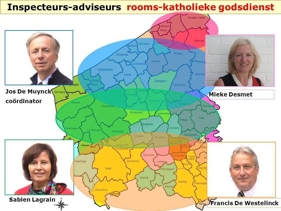 Jos De Muynck coördinator Sabien Lagrain Francis De Westelinck Inspecteurs-adviseurs rooms-katholieke godsdienst Mieke Desmet