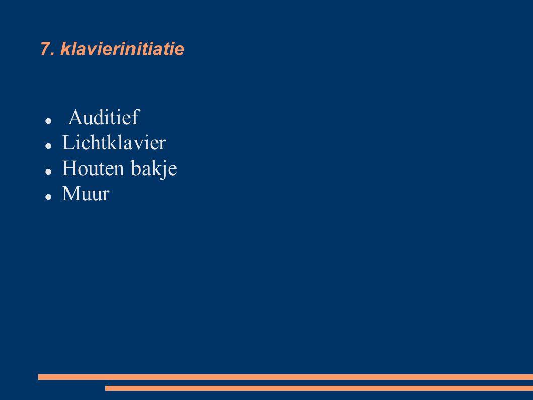 7. klavierinitiatie Auditief Lichtklavier Houten bakje Muur