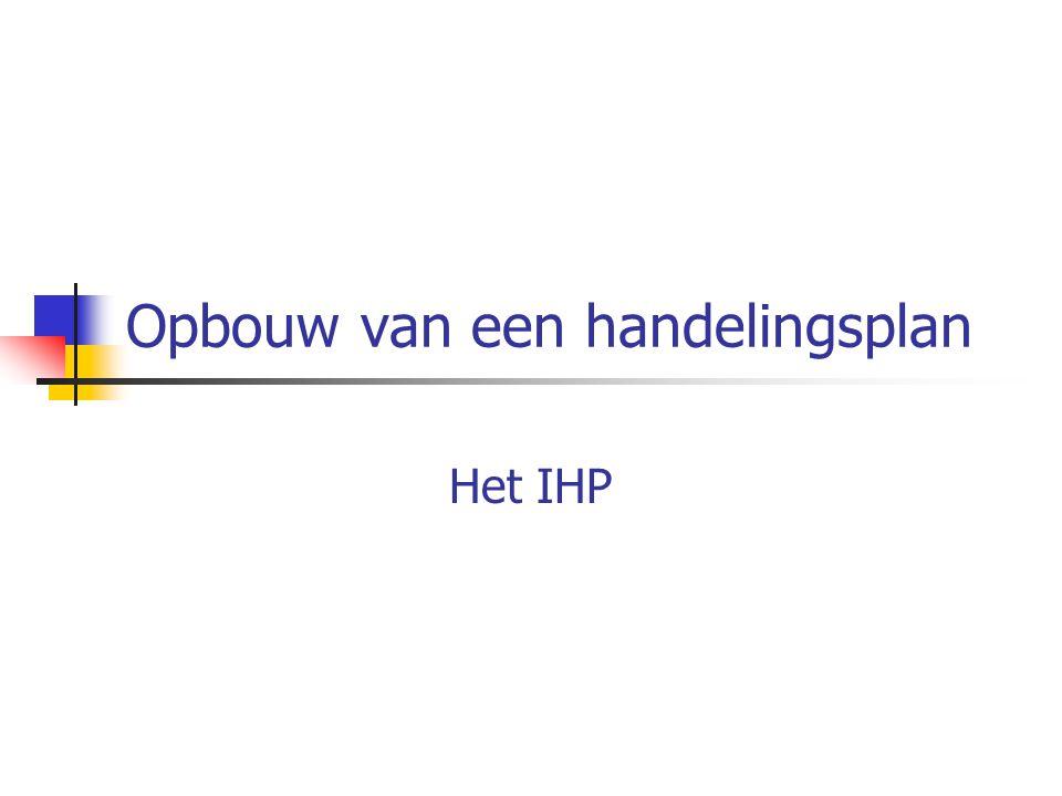 IHP Wordt opgesteld door: - de logopedist (zie bijlage) - de kinesist - de coördinator wiskunde - de BLIO