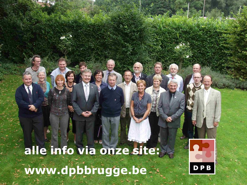 alle info via onze site: www.dpbbrugge.be