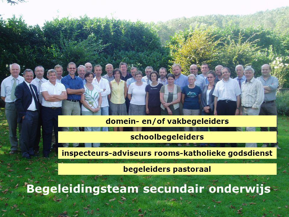 Begeleidingsteam secundair onderwijs inspecteurs-adviseurs rooms-katholieke godsdienst schoolbegeleiders domein- en/of vakbegeleiders begeleiders past