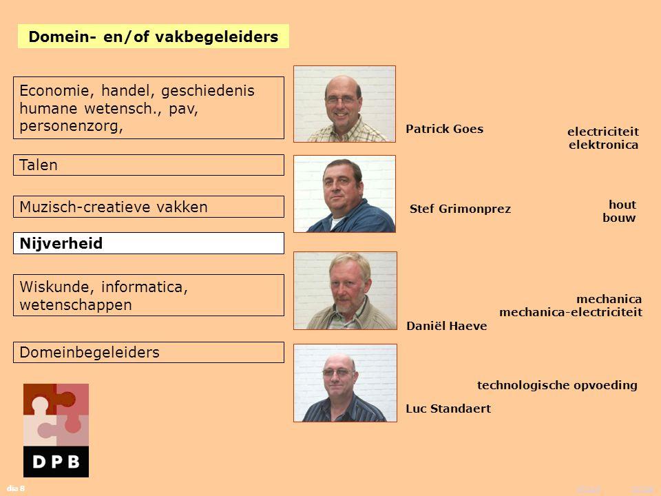 vorige inhoud dia 8 Patrick Goes Stef Grimonprez Daniël Haeve Luc Standaert electriciteit elektronica hout bouw mechanica mechanica-electriciteit tech