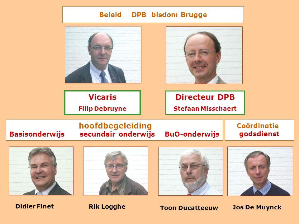 Beleid DPB bisdom Brugge hoofdbegeleiding Basisonderwijs secundair onderwijs BuO-onderwijs Coördinatie godsdienst Didier Finet Rik Logghe Toon Ducatte