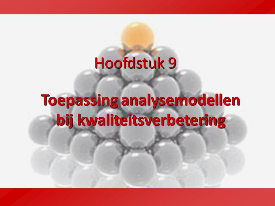 Hoofdstuk 9 Toepassing analysemodellen bij kwaliteitsverbetering