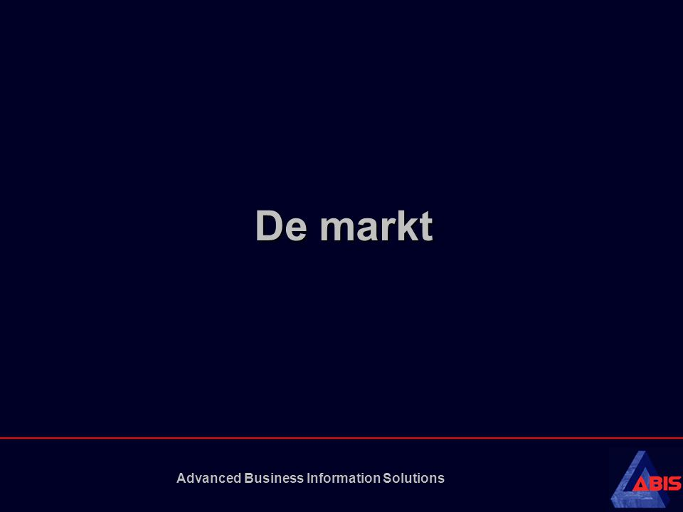 Advanced Business Information Solutions De markt