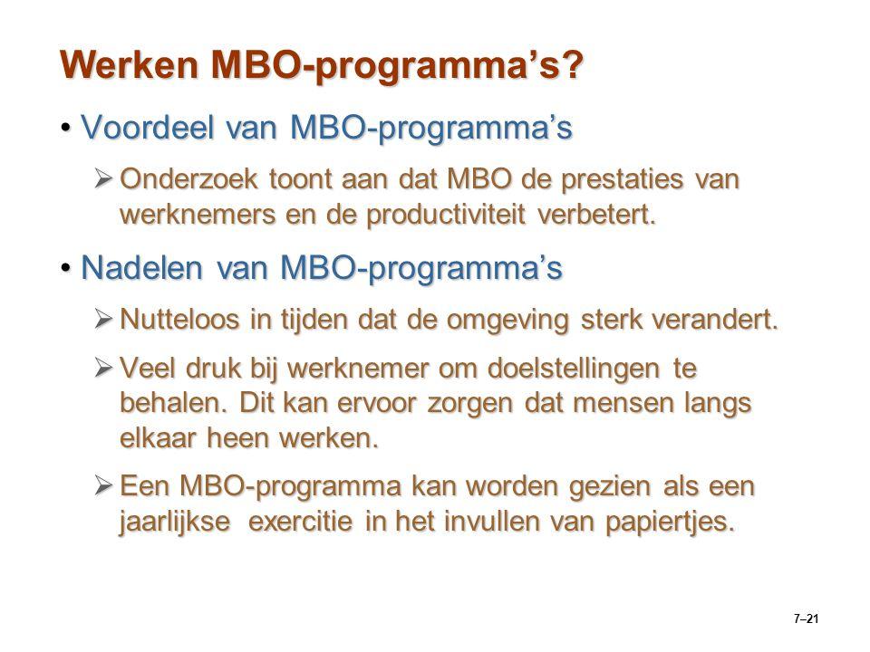 7–21 Werken MBO-programma's.