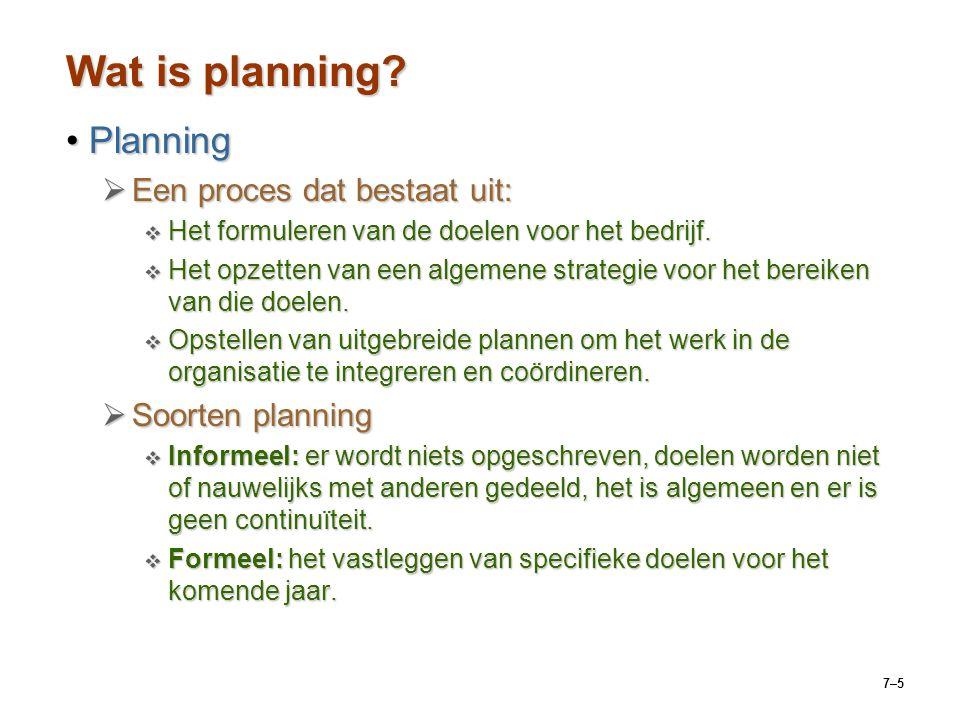 7–5 Wat is planning.