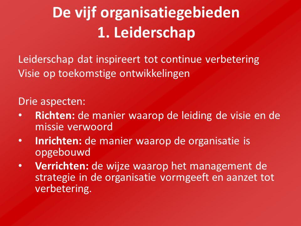 De vijf organisatiegebieden 1.