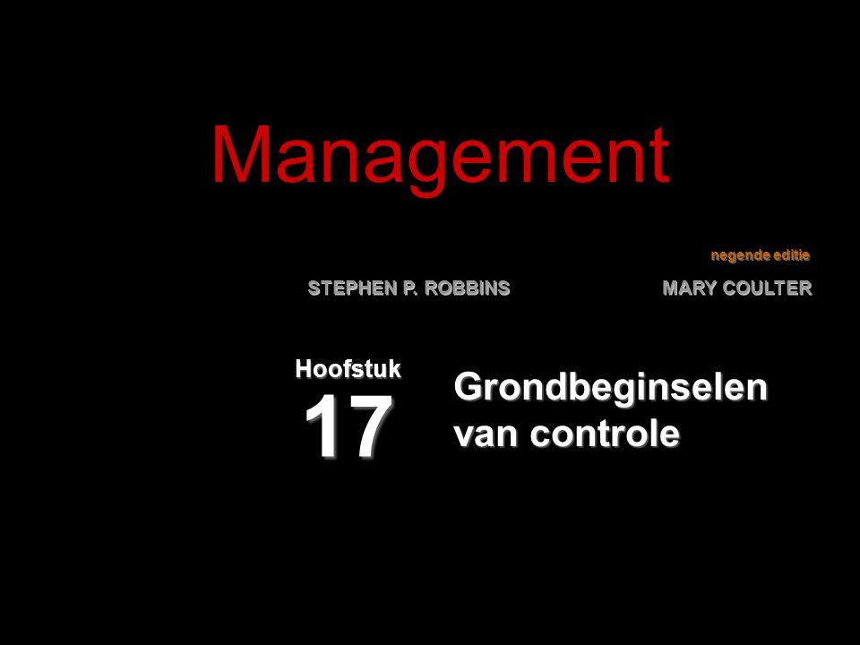 negende editie STEPHEN P. ROBBINS MARY COULTER Grondbeginselen van controle Hoofstuk 17 Management