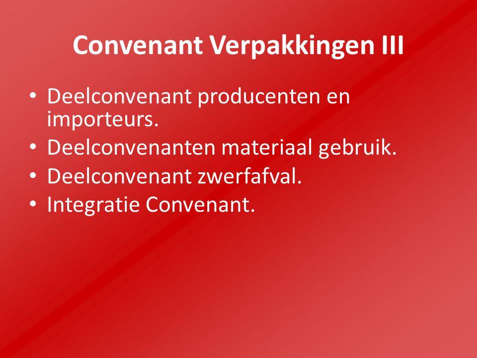 Convenant Verpakkingen III Deelconvenant producenten en importeurs.