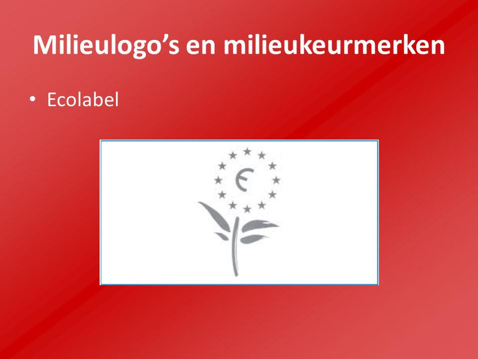 Milieulogo's en milieukeurmerken Ecolabel