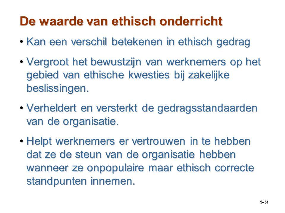 5–34 De waarde van ethisch onderricht Kan een verschil betekenen in ethisch gedragKan een verschil betekenen in ethisch gedrag Vergroot het bewustzijn