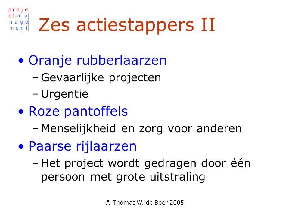 © Thomas W.de Boer 2005 Wanneer wat.