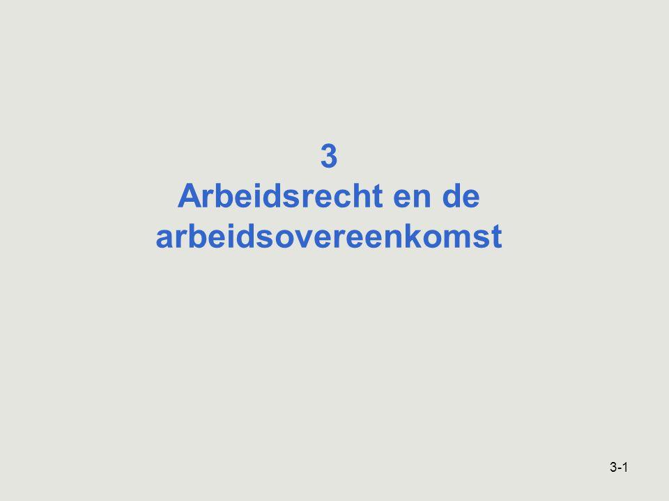 3-1 3 Arbeidsrecht en de arbeidsovereenkomst