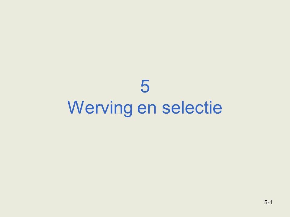 5-1 5 Werving en selectie