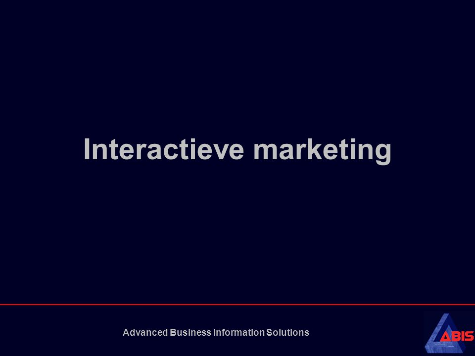 Advanced Business Information Solutions Interactieve marketing