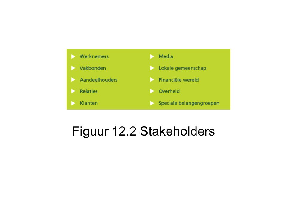 Figuur 12.2 Stakeholders