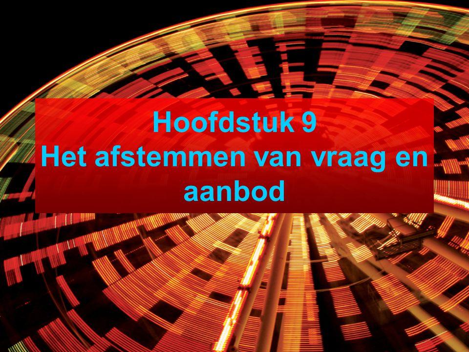 Hoofdstuk 9 Het afstemmen van vraag en aanbod