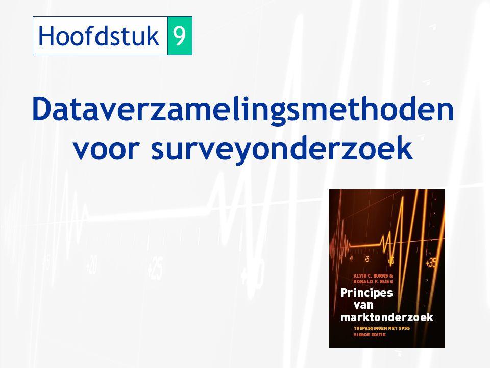Hoofdstuk9 Dataverzamelingsmethoden voor surveyonderzoek
