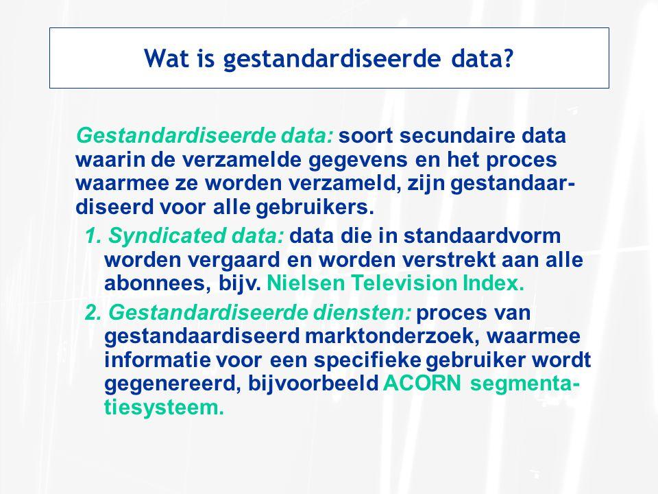 Scantrack Services van ACNielsen berust op syndicated scannerdata uit de detailhandel.