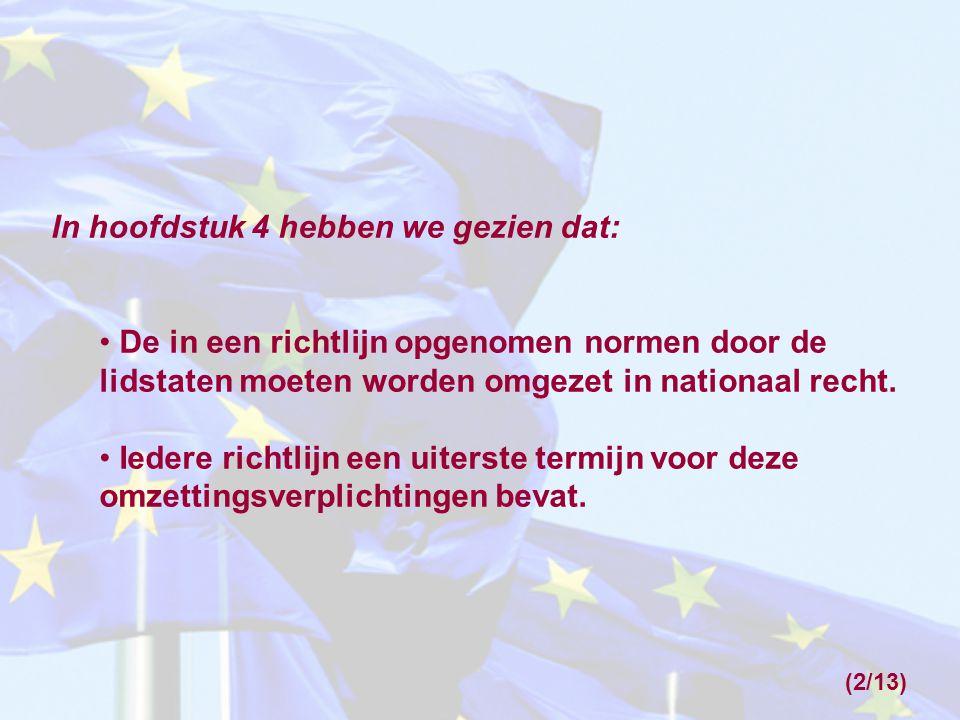 Wat gebeurt er wanneer richtlijnnormen niet (tijdig) door lidstaat A zijn omgezet in nationaal recht.