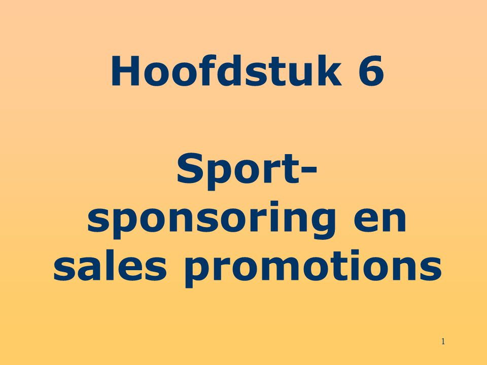 2 Structuur hoofdstuk 6 Sportsponsoring en verkooppromotie Instrumenten van verkooppromotie Sportsponsoring en winkelcommunicatie Sampling in de sport Merchandising in de sport