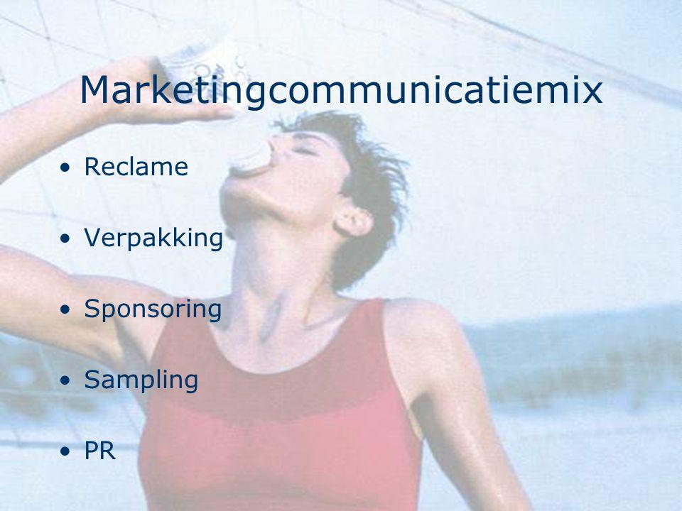 Marketingcommunicatiemix Reclame Verpakking Sponsoring Sampling PR
