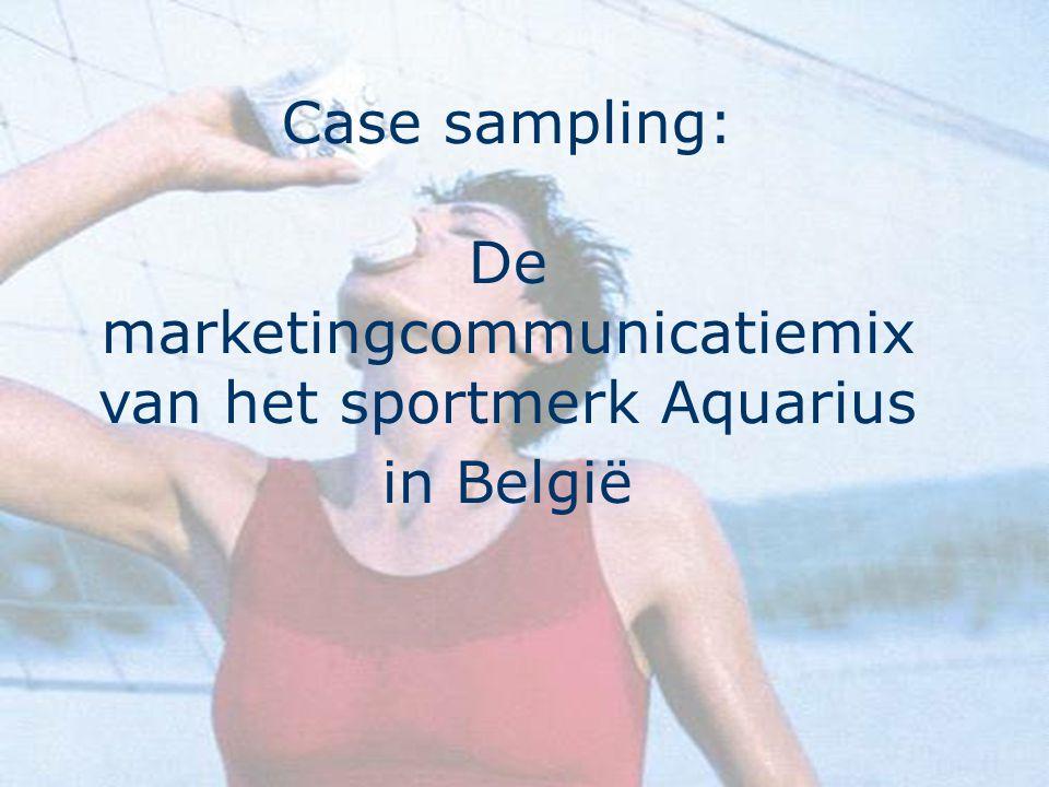 9 Omgeving waarbinnen Aquarius wordt 'vermarkt' Sport in België –58% sport wekelijks –populairste sporten Fietsen Wandelen Zwemmen Fitness Lopen Voetbal