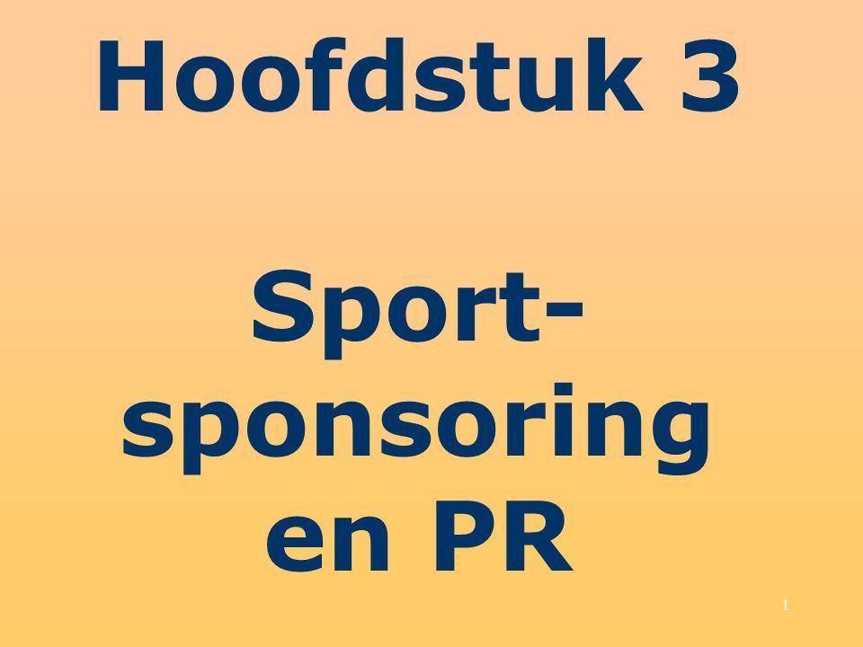 1 Hoofdstuk 3 Sport- sponsoring en PR