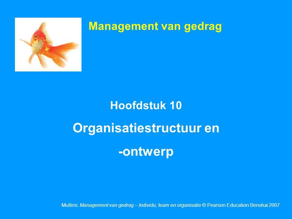 Dia 10.2 Mullins: Management van gedrag – Individu, team en organisatie © Pearson Education Benelux 2007