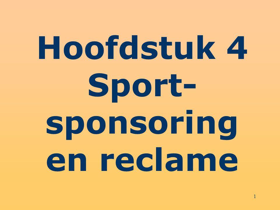 1 Hoofdstuk 4 Sport- sponsoring en reclame