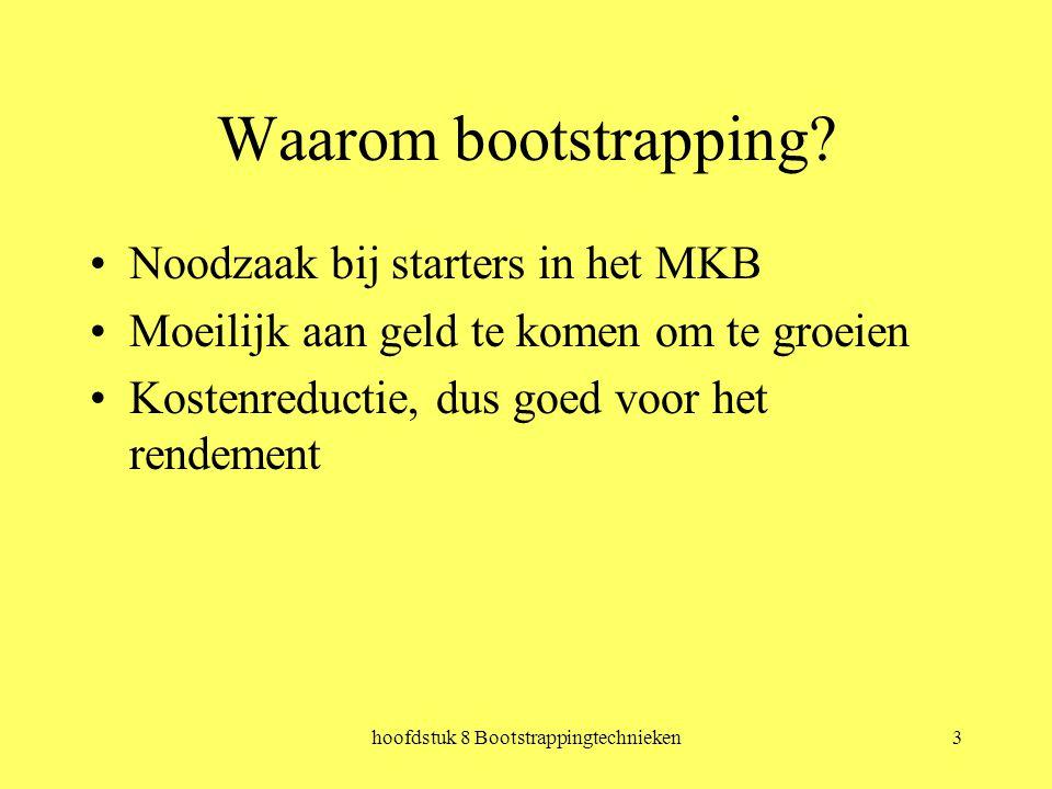 hoofdstuk 8 Bootstrappingtechnieken3 Waarom bootstrapping.
