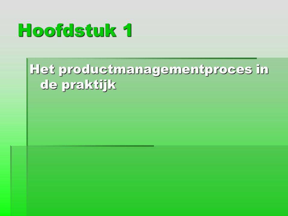 Hoofdstuk 1 Het productmanagementproces in de praktijk