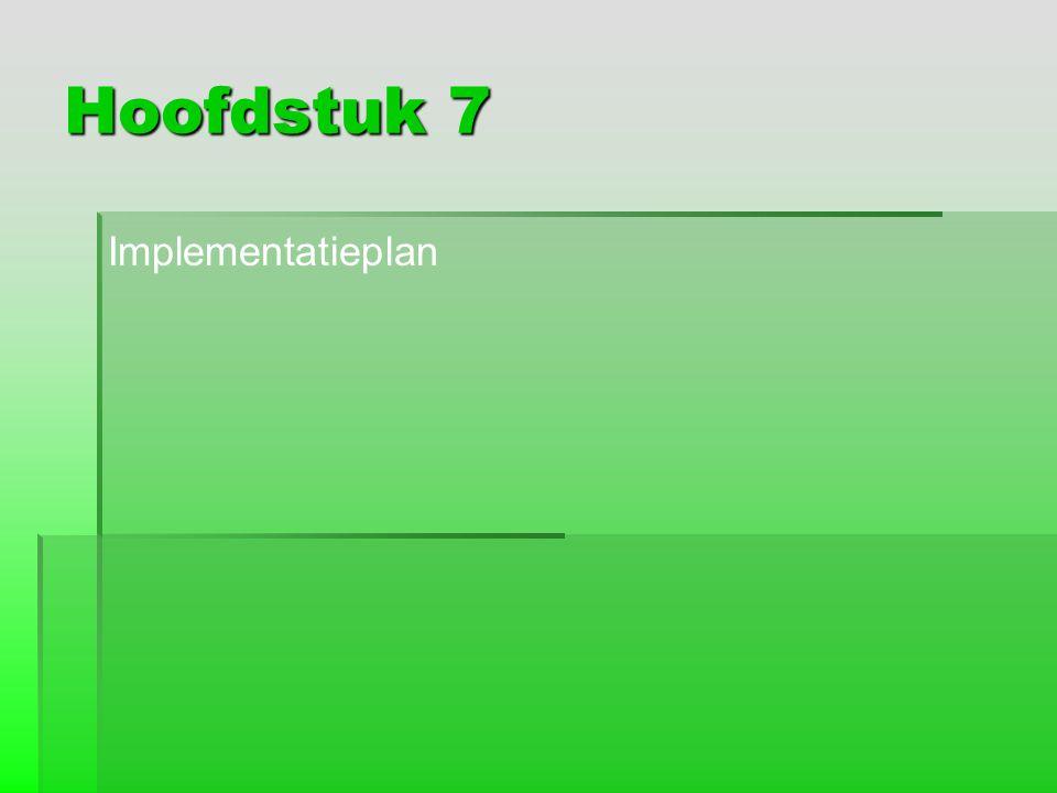 Hoofdstuk 7 Implementatieplan