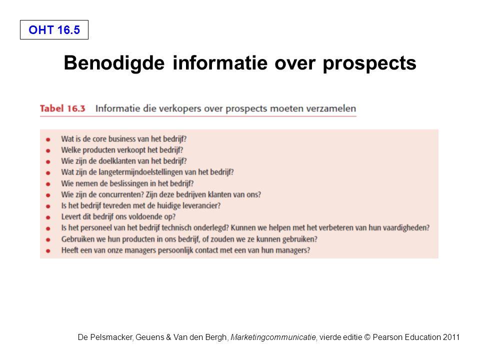 OHT 16.6 De Pelsmacker, Geuens & Van den Bergh, Marketingcommunicatie, vierde editie © Pearson Education 2011 Methoden voor het wegnemen van bezwaren