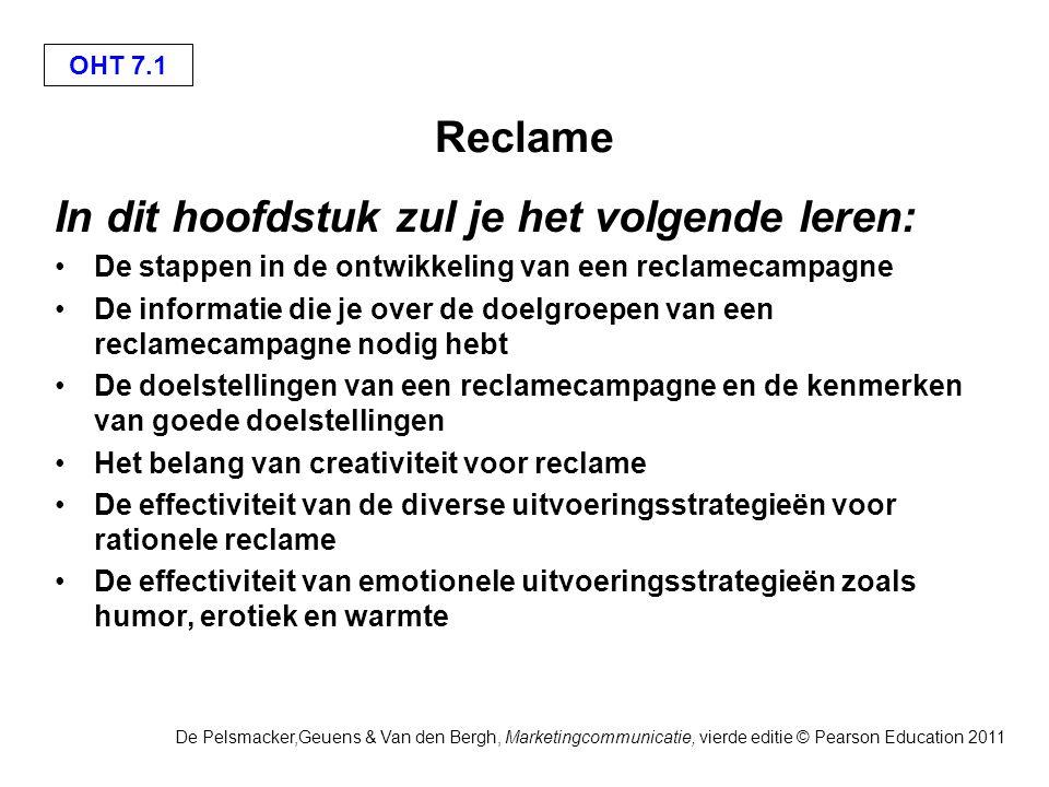 OHT 7.2 De Pelsmacker,Geuens & Van den Bergh, Marketingcommunicatie, vierde editie © Pearson Education 2011 Europese reclame- uitgaven in 2004