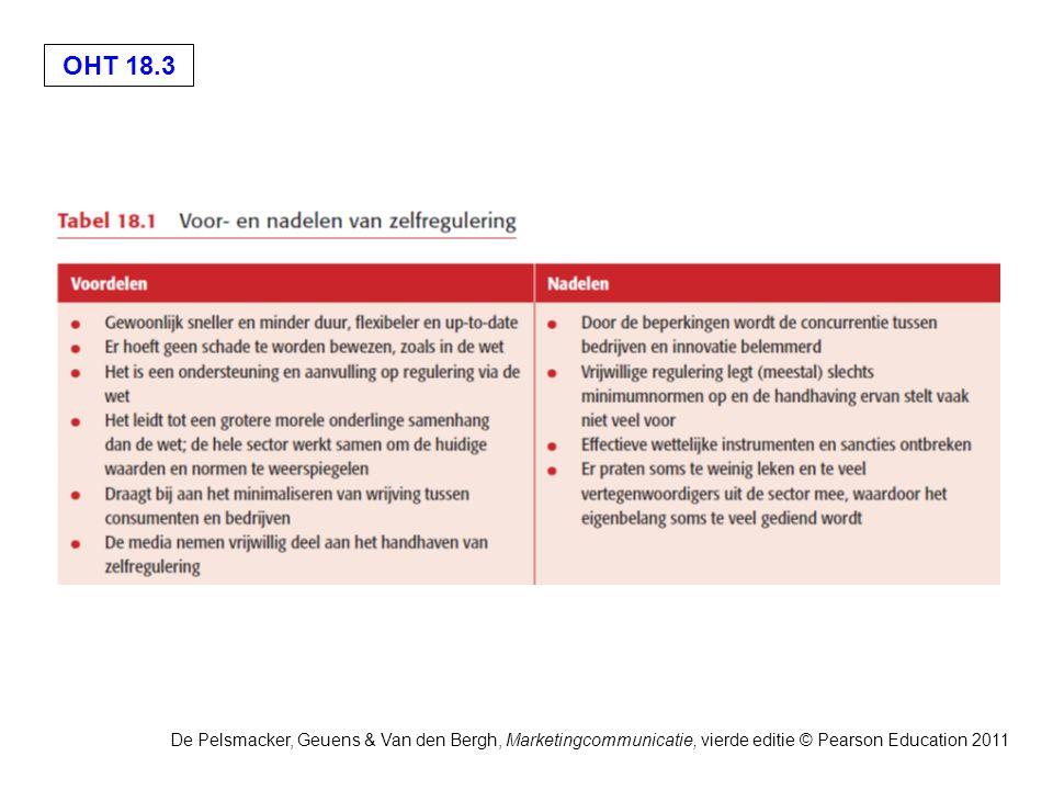 OHT 18.3 De Pelsmacker, Geuens & Van den Bergh, Marketingcommunicatie, vierde editie © Pearson Education 2011