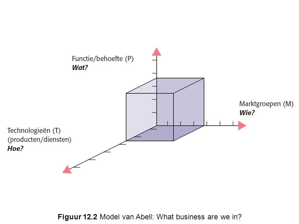 Figuur 12.2 Model van Abell: What business are we in?