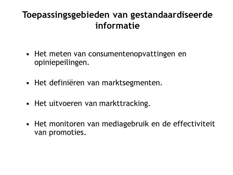 Het meten van consumentenopvattingen en opiniepeilingen.