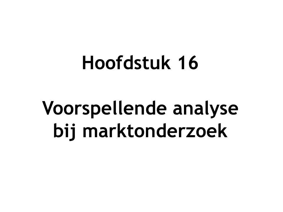 Hoofdstuk 16 Voorspellende analyse bij marktonderzoek