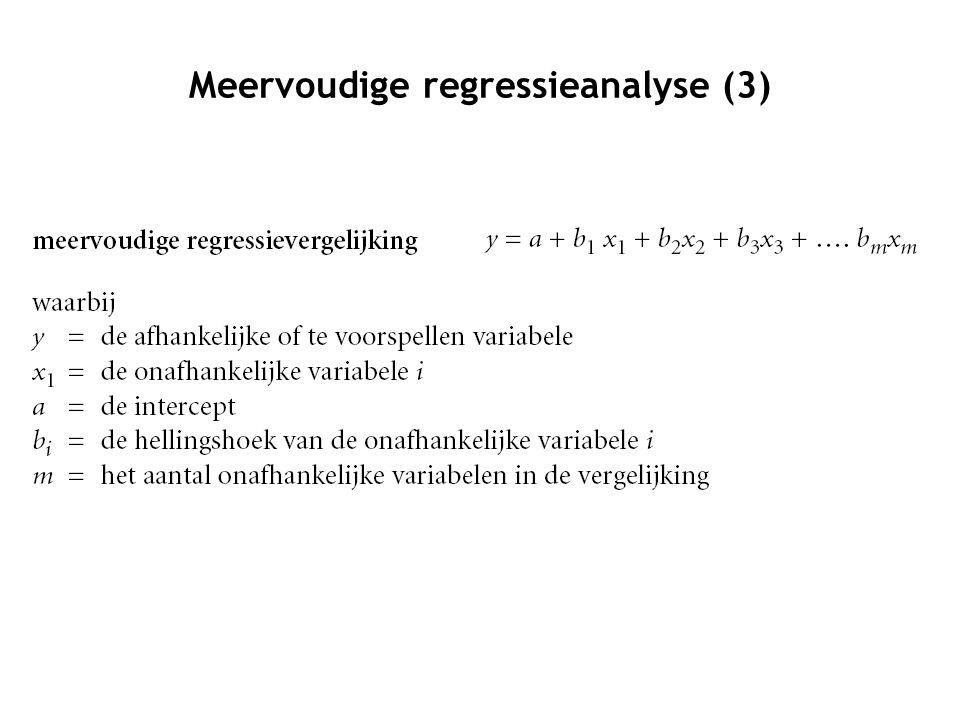 Meervoudige regressieanalyse (3)