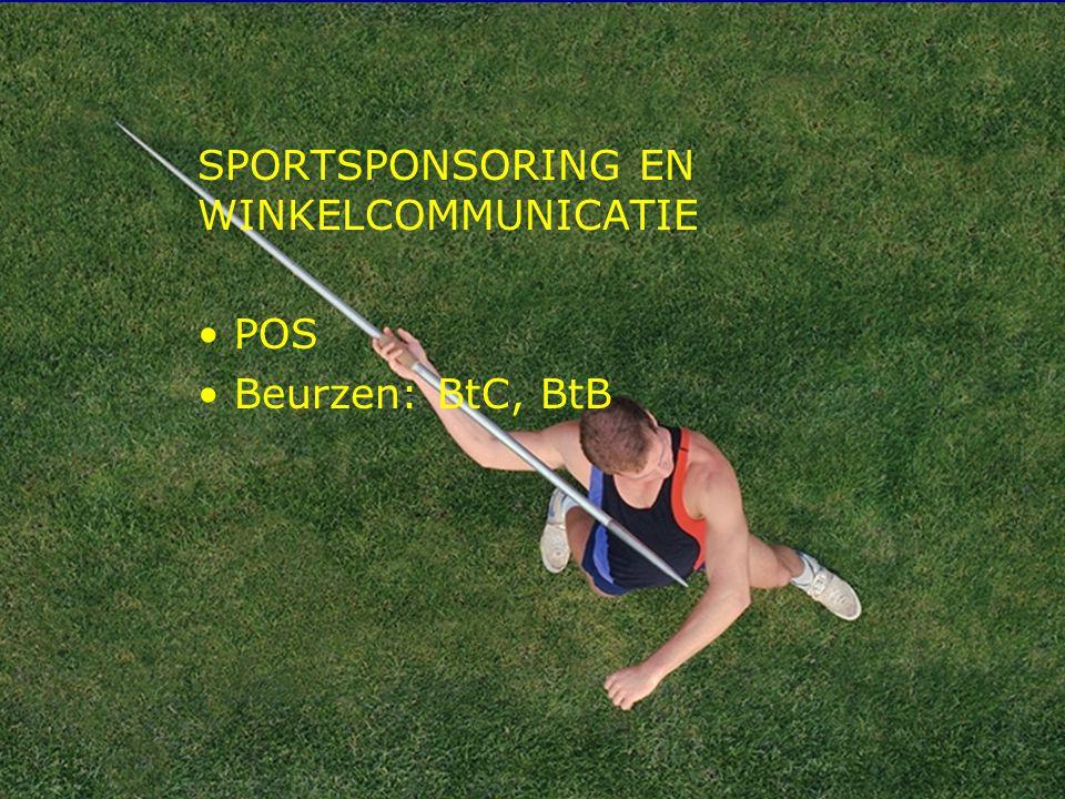 11 SPORTSPONSORING EN WINKELCOMMUNICATIE POS Beurzen: BtC, BtB
