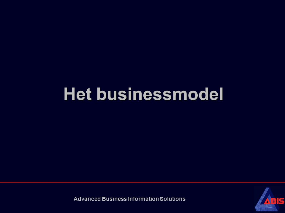 Advanced Business Information Solutions Het businessmodel
