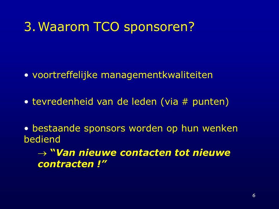 6 3.Waarom TCO sponsoren.