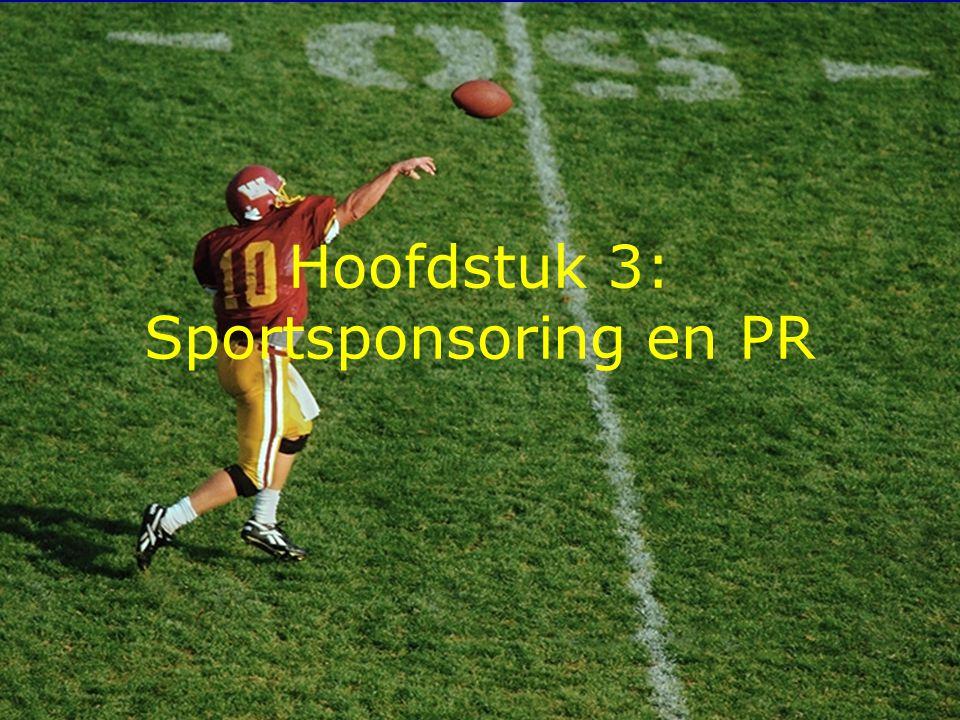 1 Hoofdstuk 3: Sportsponsoring en PR