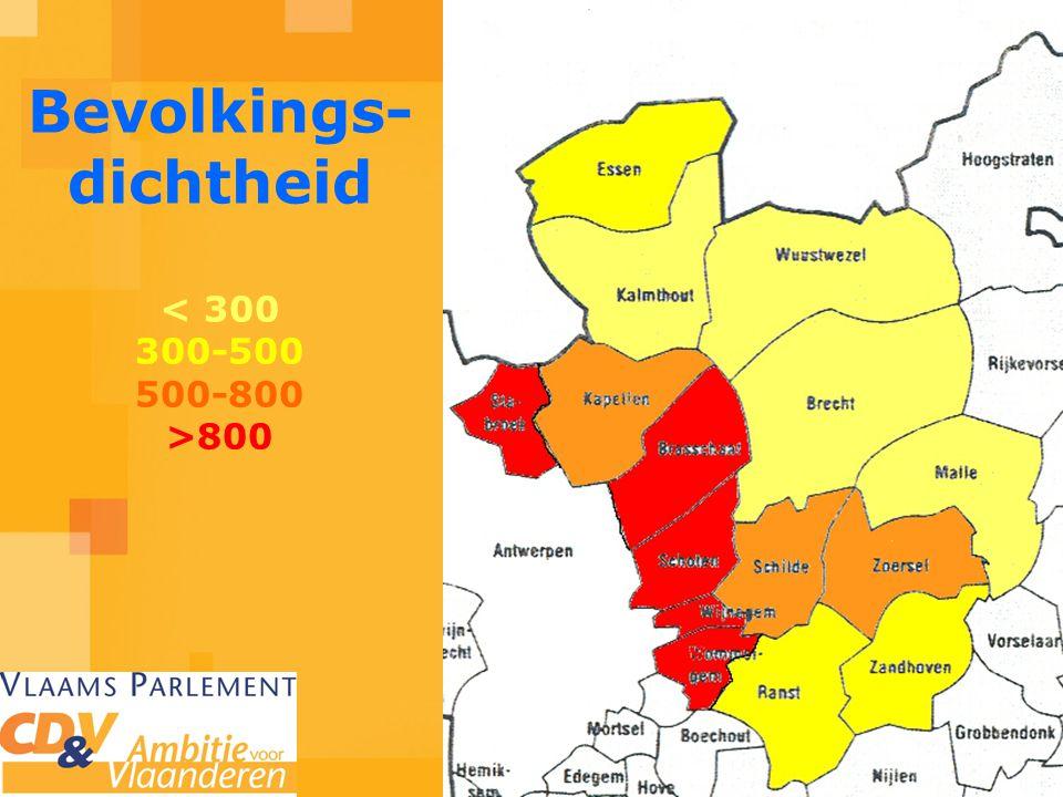 Bevolkings- dichtheid 800