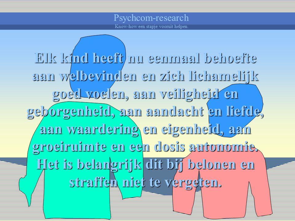 Psychcom-research Know-how een stapje vooruit helpen. Hoe beter je de behoeften en gevoelens van een kind kan opmerken, hoe beter je er op kan inspele