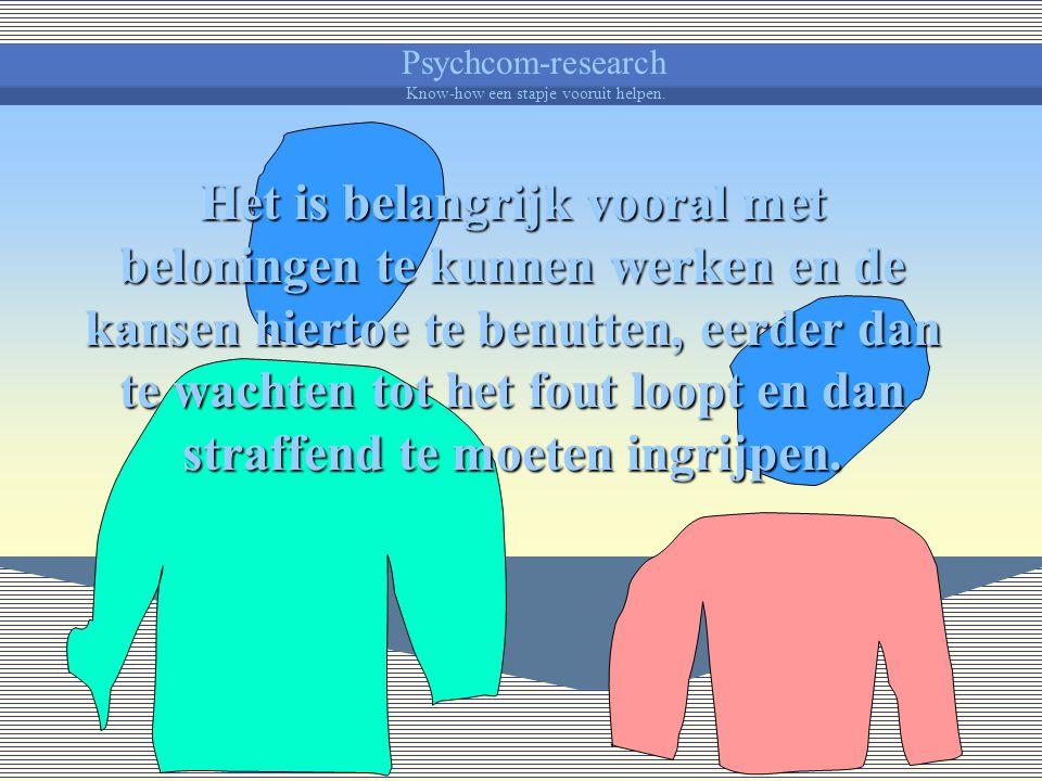 Psychcom-research Know-how een stapje vooruit helpen. Het is nuttig om weten dat een kind zowat alles nog moet leren : zichzelf leren kennen en de onm
